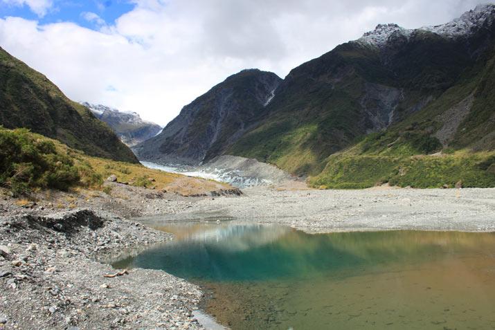 foz glaciar en nueva zelanda. Nueva Zelanda, la Isla Sur