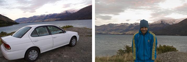 coche nz. Nueva Zelanda, la Isla Sur