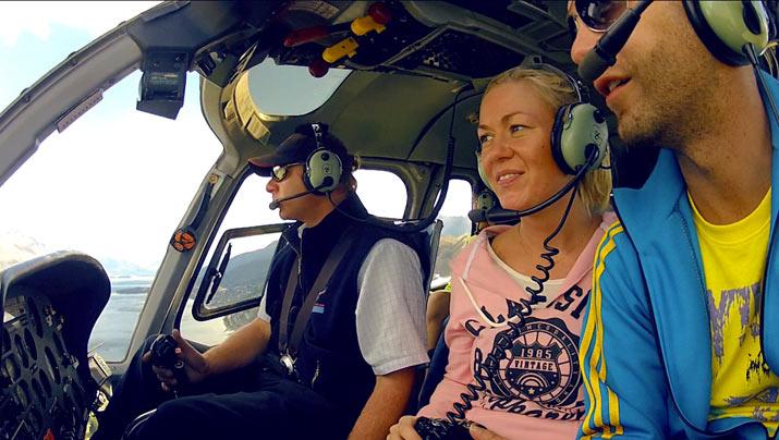 helicoptero en NZ