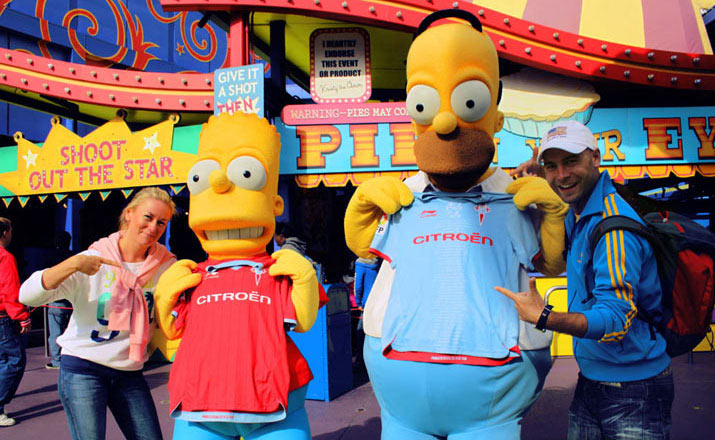 celta facebook simpson Los Angeles y Universal Studio Hollywood
