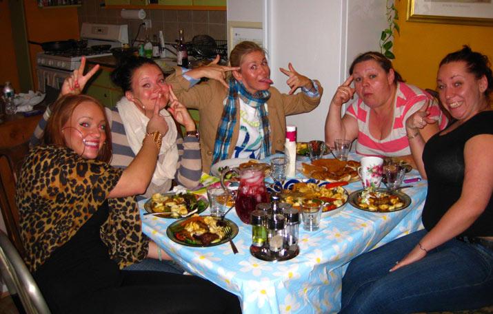 cena con familia en nyc