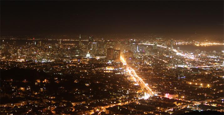 ver SAn francisco de noche molaviajar