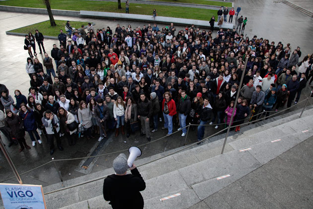 Flash Mob Vigo se congela
