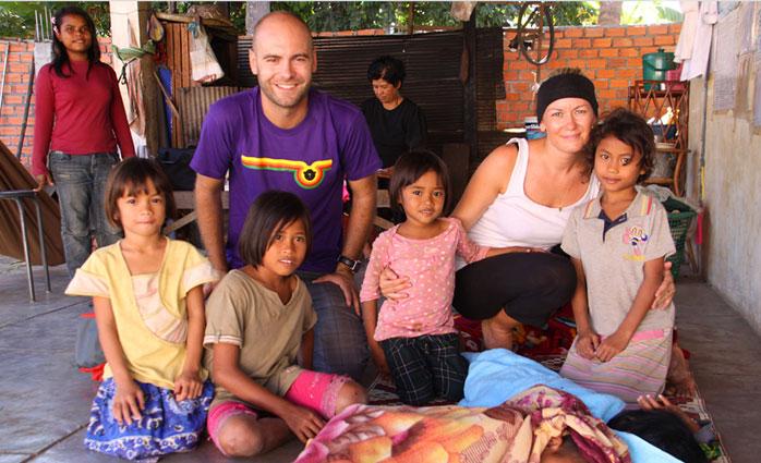 Battambang Camboya. niños internado camboya