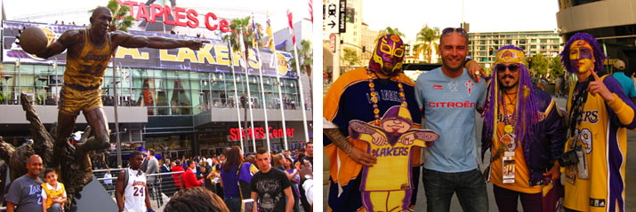 partido de los laker en los angeles