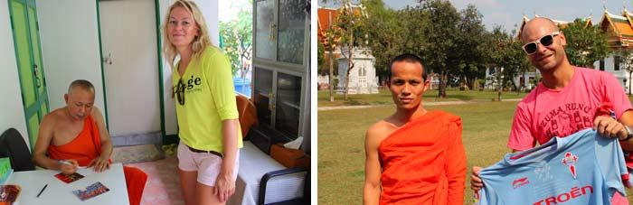 buda firmando postal tailandia