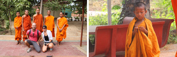 Monjes budistas. Battambang Camboya