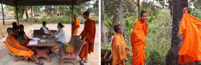 Monjes budistas 5. Battambang Camboya