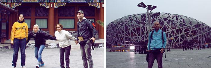 con amigos en pekin