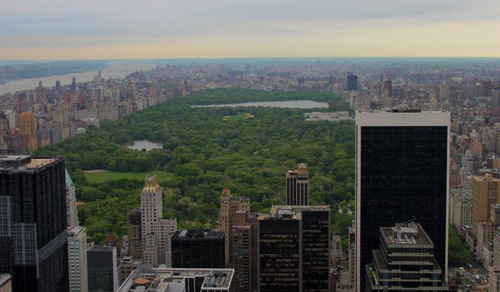 central park desde Rockefeller center
