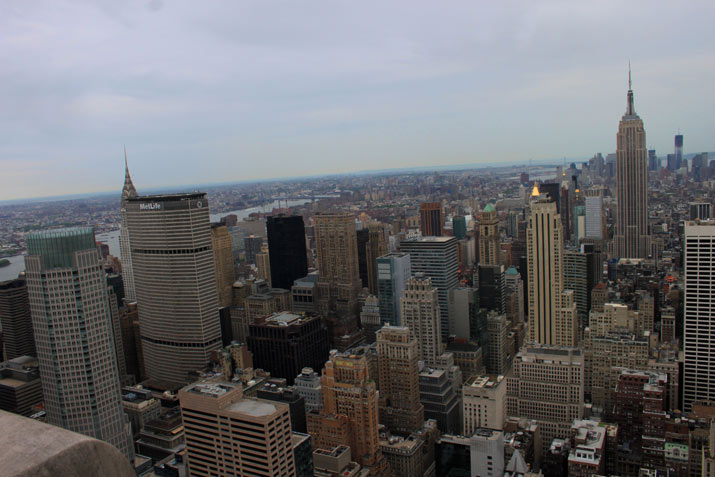 empire state desde Rockefeller center