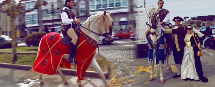 caballos arribada baiona La Arribada 2013