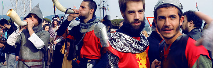medievales arribada baiona La Arribada 2013