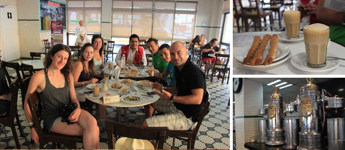 desayunando en la parroquia molaviajar