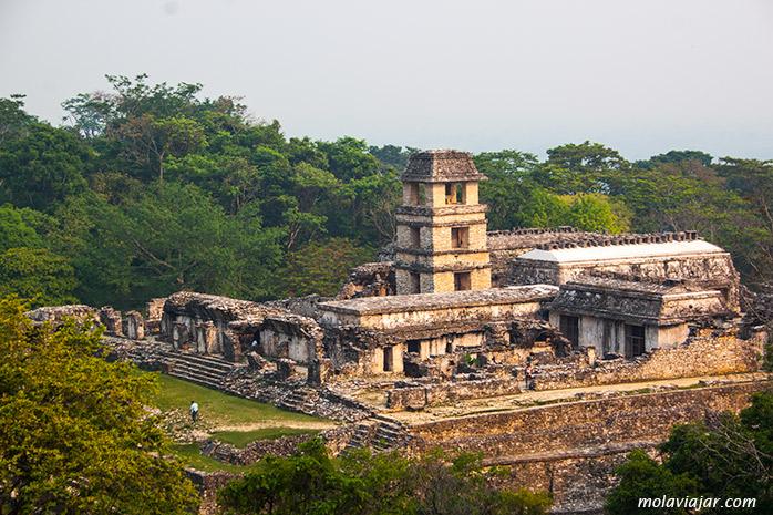 vista aerea palacio maya palenque