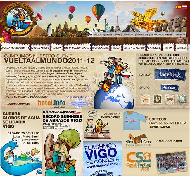 web molaviajar año 2011