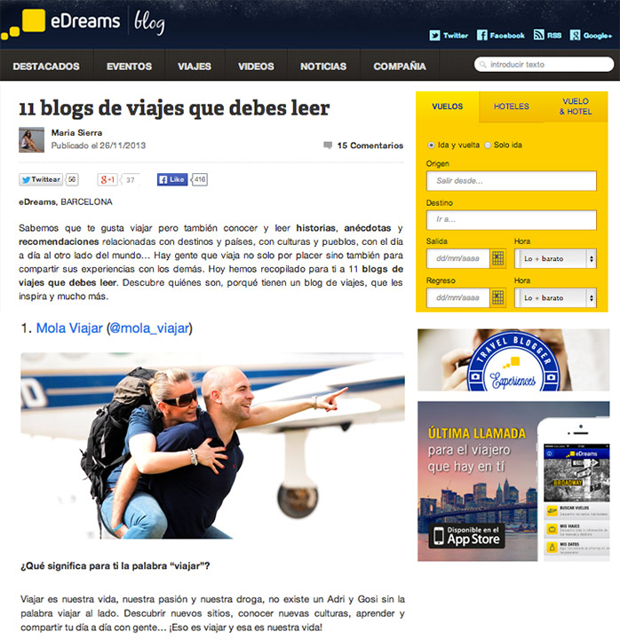 edreams blogs de viaje