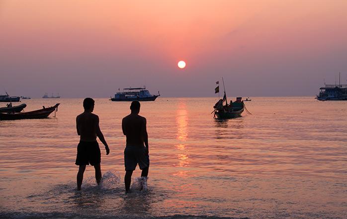 puesta de sol koh Tao