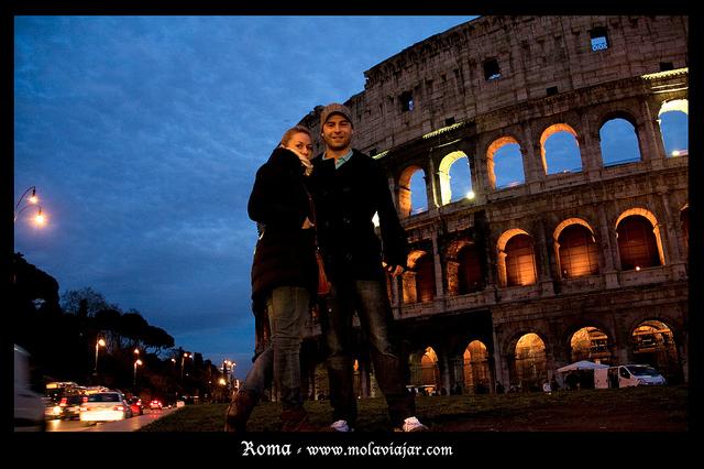 Adri y gosi en Roma san valentín