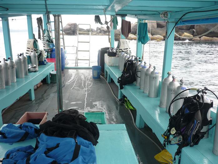 barco curso buceo