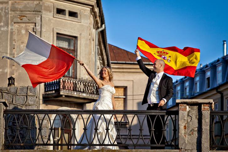 polonia españa- boda