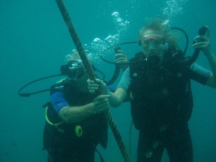 curso de buceo en Tailandia