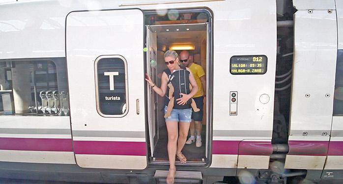 familia molaviajar tren