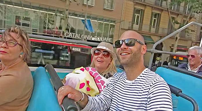 viajar en bus por Barcelona