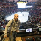 Partido de Hockey en Madison Square Garden. Nueva york