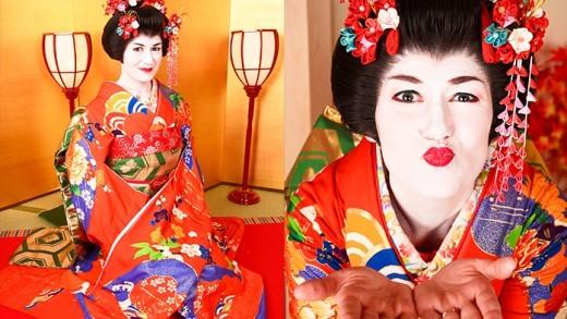 Vestirse de Gueisha en Kyoto, Japón