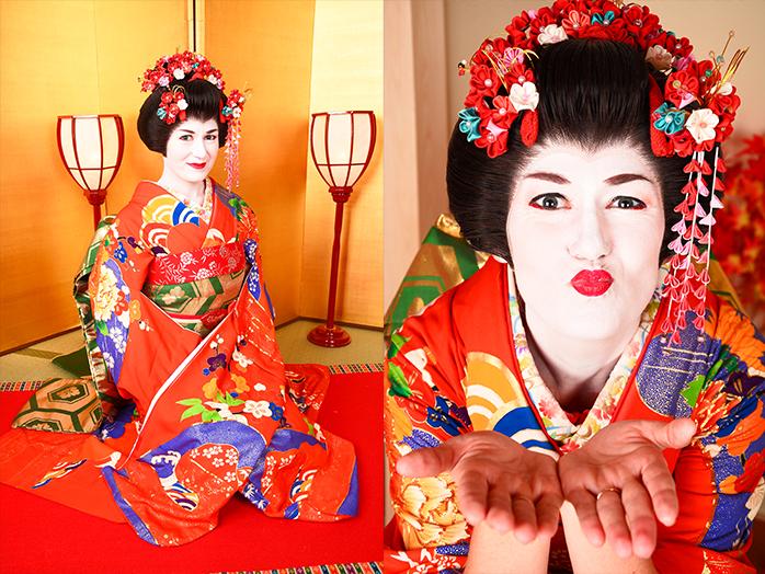 Vestirse de Geisha en Kyoto, Japón