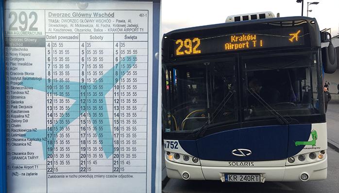 bus cracovia aeropuerto