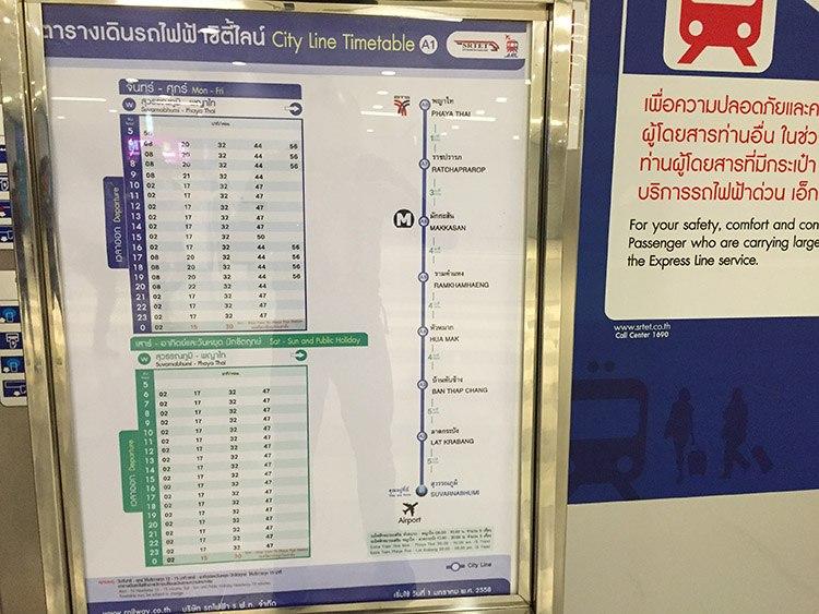 horario trenes aeropuerto bkk