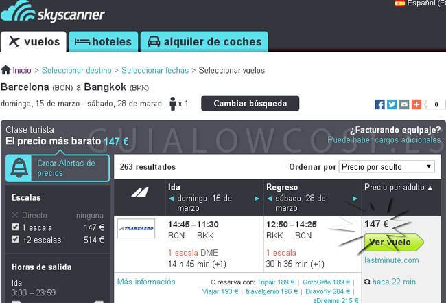 ofertas vuelos Bangkok