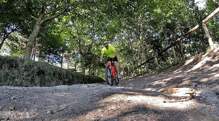 bici por Moaña