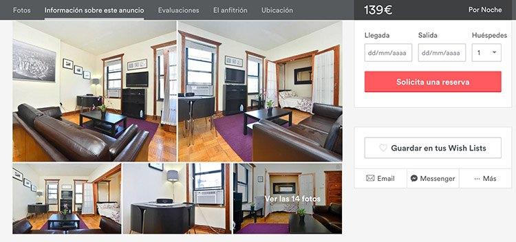 Descuentos viaje Nueva York. apartamento en NYC