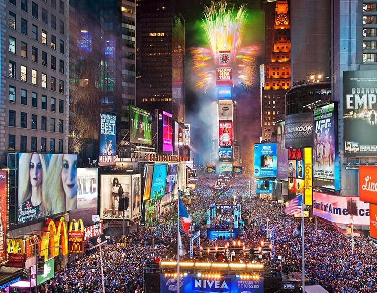 Eventos de nochevieja en Times Square