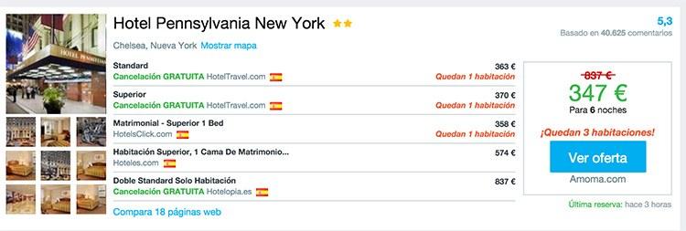 alojamiento barato NYC. el hotel más barato de Nueva York