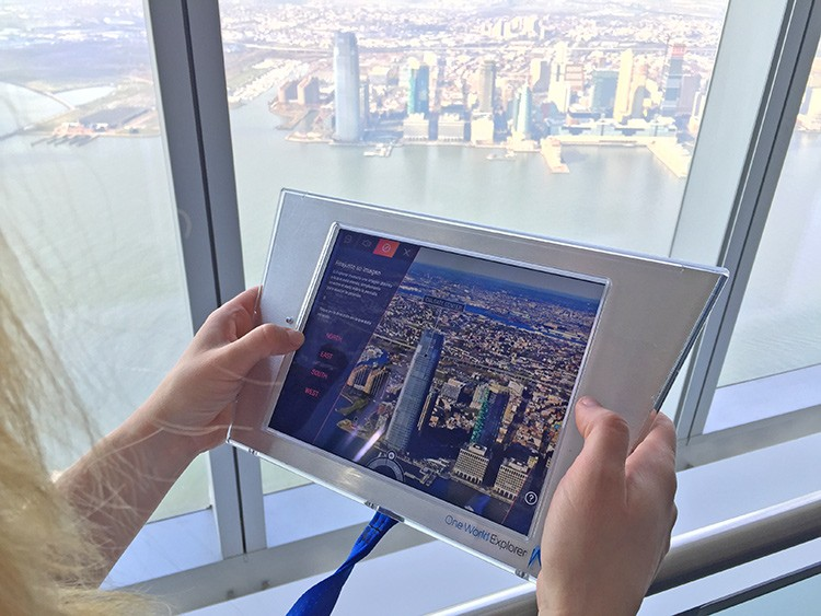 ipad-Visita al observatorio One World Trade Center en Nueva York