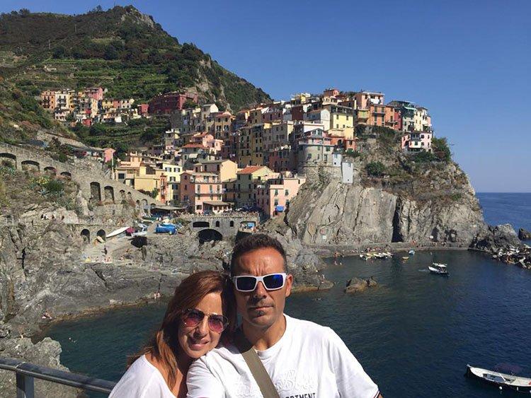 en Cinque Terre el pueblo de Manarola