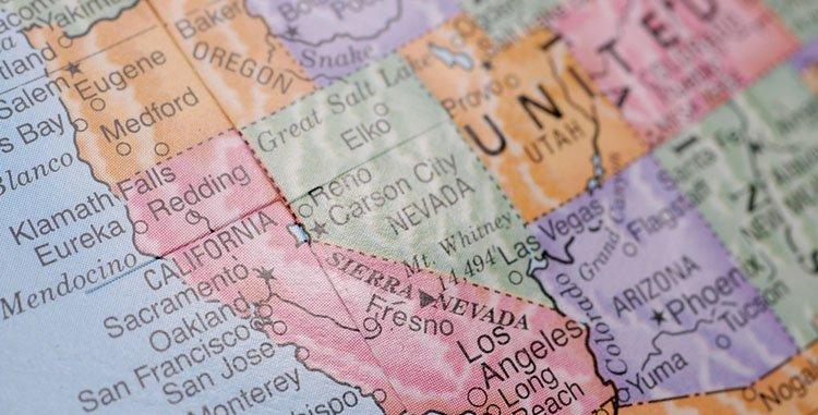 Mapa Eeuu Costa Oeste.Como Reservar Hoteles Para Recorrer La Costa Oeste Eeuu