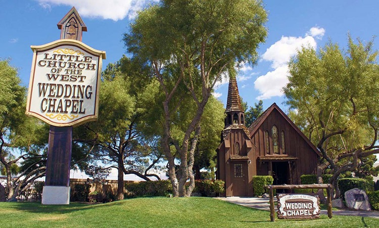 Little Church of the West. The first of the Las Vegas Wedding Chapels
