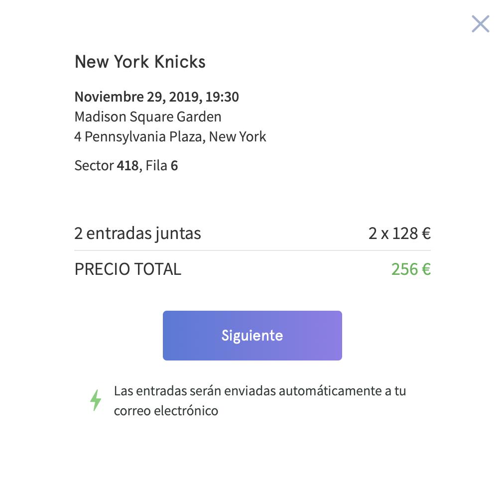 Hellotickets confirmación precio y asientos