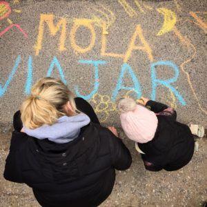 Graffiteando el suelo polaco