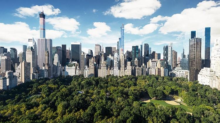 Ruta andando por Central Park Nueva York