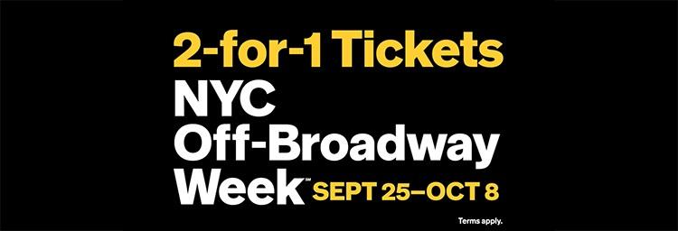 Semana off Broadway en Nueva York 2x1 en entradas