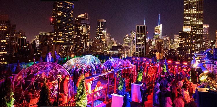 Luna Party Carnaval en un ático de Nueva York
