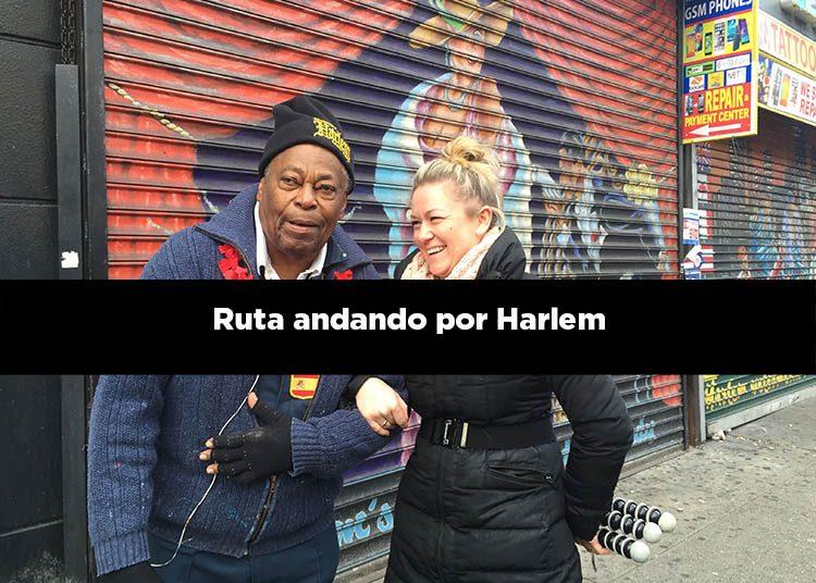 Ruta andando por Harlem