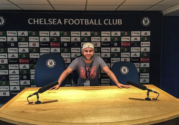 estadios Londres chelsea sala de prensa