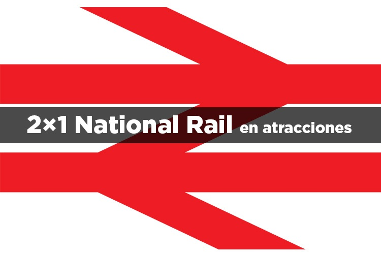 2×1 National Rail en atracciones